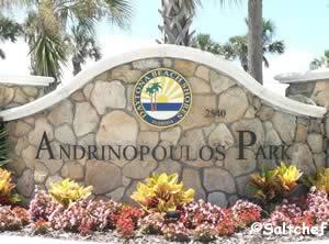 sign andrinopolous park daytona beach shores fl