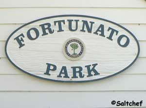 sign at fortunato park florida