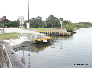 saltwater boat ramp at high bridge oak hill fl