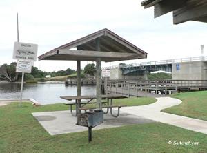 small picnic shelters at high bridge park
