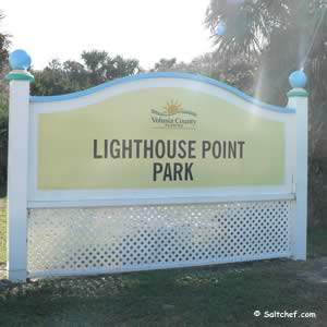 entrance sign lighthouse point park ponce inlet florida