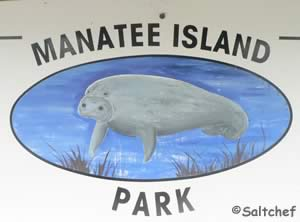 manatee island daytona beach sign