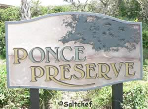 sign at ponce preserve