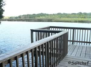 fishing dock at river bend nature park ormond beach fl