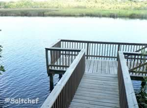 fishing dock along tomoka river ormond beach