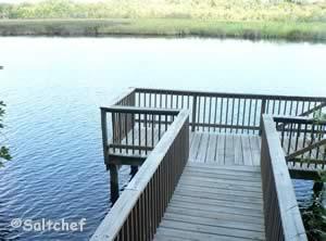 fishing dock along tomoka river ormond beach