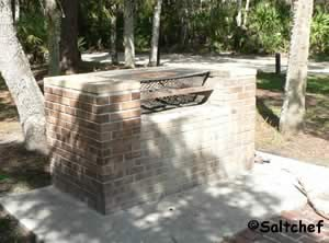 nice large grill at sanchez park ormond beach