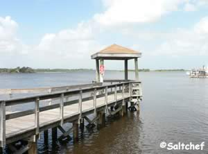 dock along icw at bicentennial park ormond