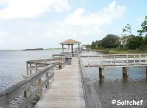 fishing dock along icw in ormond by the sea