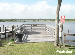 fishing dock on icw ormond beach florida