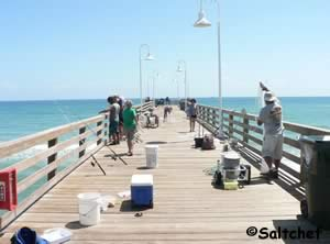 Ocean Fishing Pier In Daytona Beach