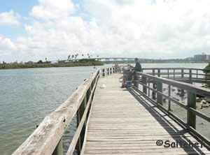 fishing pier on north causeway