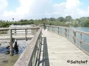 fishing pier near intercoastal boat ramp new smyrna beach fl