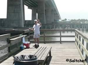 friendly fishermen at port orange pier