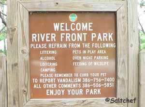 river front park sign port orange florida