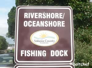 rivershore oceanshore fishing dock sign