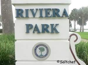 sign at riviera park