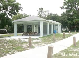 pavilion and restrooms at rocco park fl