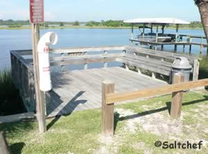 fishing dock along halifax river in ormond beach
