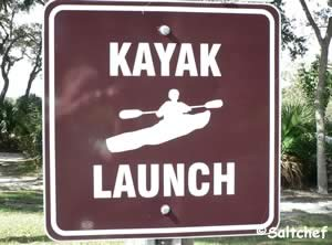 launch kayak into icw at seabridge park ormond beach florida