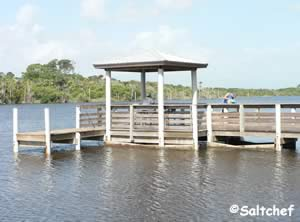 fishing pier at seabridge park ormond beach