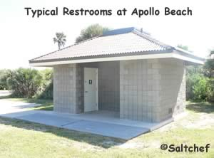 restrooms at apollo beach section of cape canveral national seashore