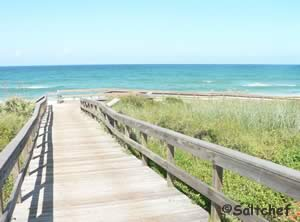 typical walkway to beach at cape canaveral apollo beach section