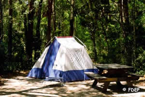 primitive camping tomoka river state park ormond beach