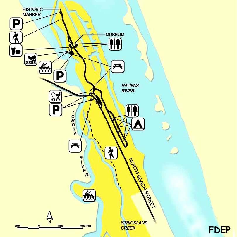 map of tomoka state park