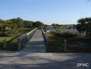 path to floating docks at lighthouse point