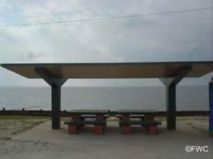 picnic pavilions at bayfield park on the 331 causeway near freeport fl