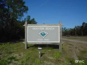 grayton beach state park sign