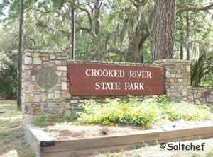 sign at crooked river state park georgia