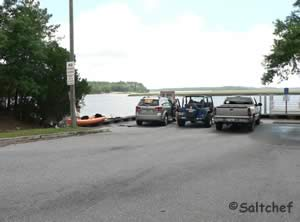 parking at harriets bluff boat ramp