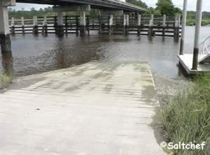 boat ramp along 17 at little satilla river camden county ga