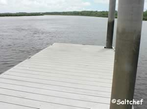floating dock at little satilla river boat ramp