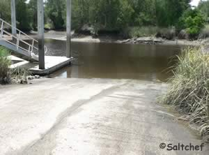 white oak creek boat ramp along route 17