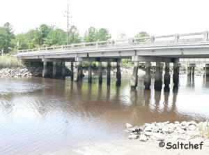 low bridge at white creek boat ramp