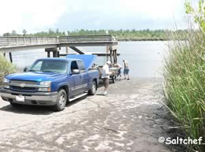 boat ramp at satilla river woodbine georgia