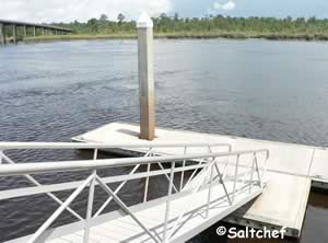 floating dock at satilla river waterfront park boat ramp