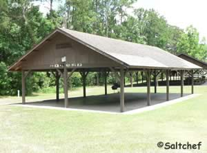 pavilion at satiila river waterfront park