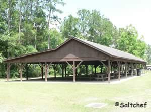 2 large pavilions at Satilla River Waterfront Park