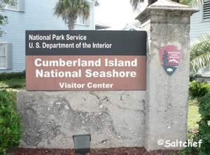 visitor center on mainland at cumberland island