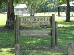 kings ferry park boat ramp sign