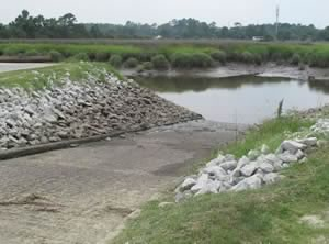 boat ramp on salt creek near savannah