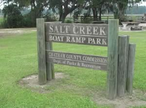 salt creek boat ramp sign