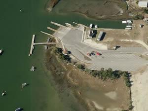 boat ramp in beafort, nc newport river