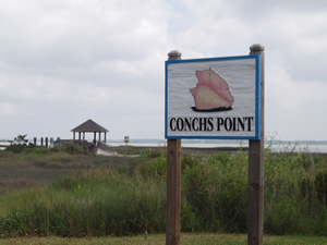 sign at conchs point in morehead city, nc