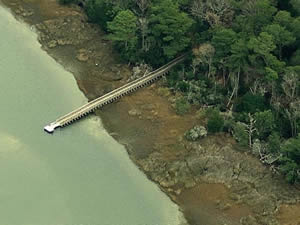 fishing pier on bogue sound in emerald isles