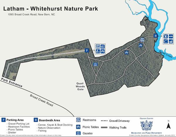 latham whitehurst nature park map